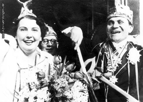 1950/1951 Willi I. (von der Warth) und Hanny I. (Hoog) sowie Frieda I. (Verkoyen)
